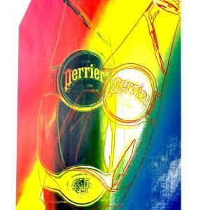 Andy Warhol Perrier 7, Pop art print 1999