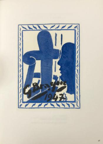 Braque Lithograph p47, Braque le patron 1963