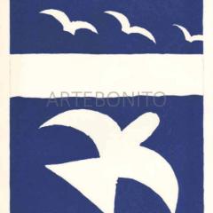 "Braque Lithograph ""Flying bird L01"" Verve"