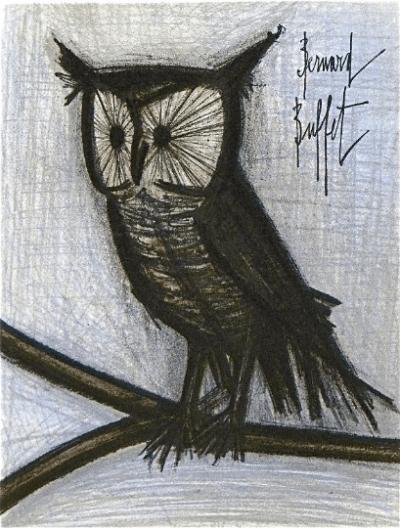 Buffet The little Owl Original Lithograph 1968