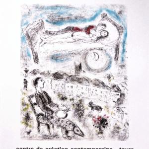Chagall Poster, A proximite des poetes