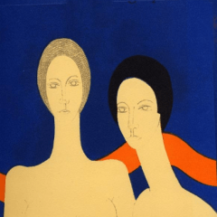 Cover, Original Lithograph Artwork by Andre Minaux
