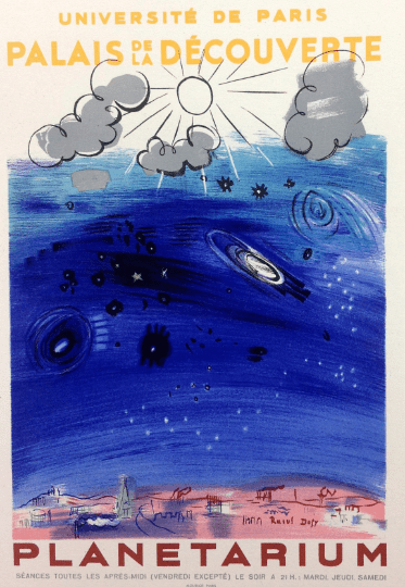 """Dufy 29, Lithograph """"Planetarium"""" Art in posters"""