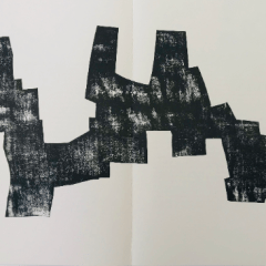 "Eduardo Chillida Woodcut ""DM03174"" DLM printed 1968"