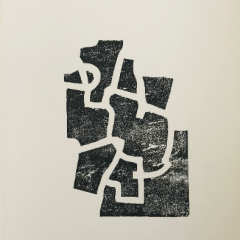 "Eduardo Chillida Woodcut ""DM05174"" DLM printed 1968"