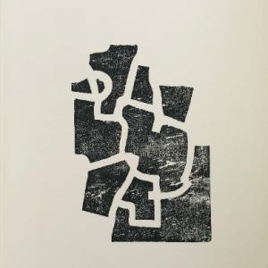 "Eduardo Chillida Woodcut ""DM05174"" DLM printed 1968"
