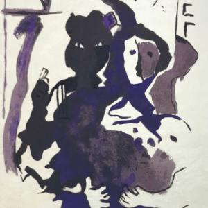 "Francisco Bores ""11"" Original Lithograph 1962 Mourlot"