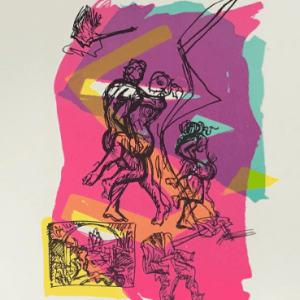 Francois Lamore Original Lithograph, N8-1, 1988