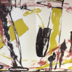 Isabelle Metadier Original Lithograph N7-d Noise 1988