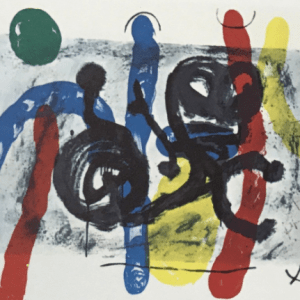 Joan Miro, Original Lithograph, DM16151h, Derriere le Miroir 1970