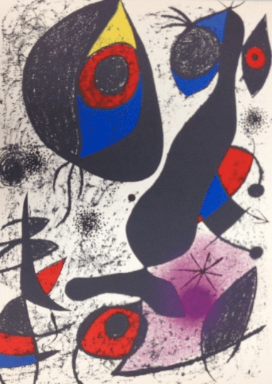 "Joan Miro Original Lithograph ""Indelible 1"""