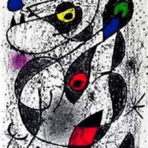Joan Miro, Original Lithograph, Indelible 2, 1972