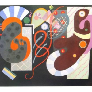 """Kandinsky Poster on arches paper """"Noeud rouge"""""""