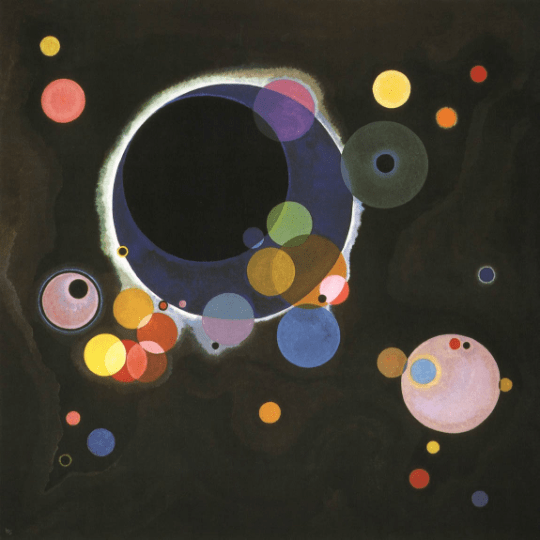 Wassily Kandinsky, Several Circles, Giclee Limited Edition