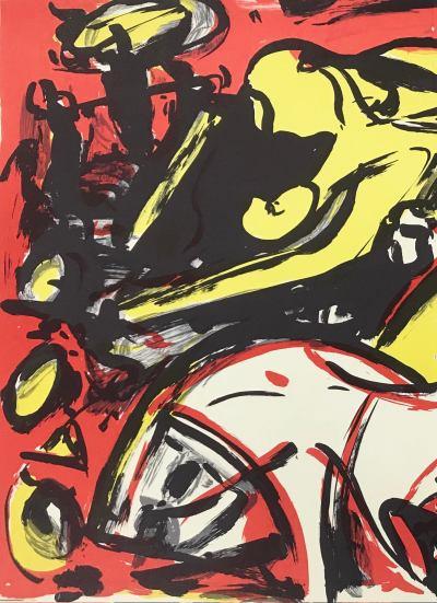 Max Kaminski Original Lithograph N4-2H Noise 1988