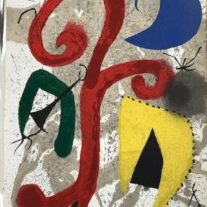 Joan Miro, Jardin au Clair de Lune, Original lithograph signed in plate 1973