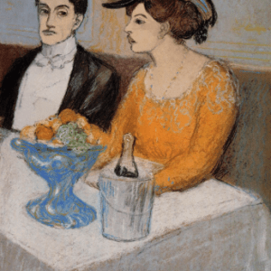 """Pablo Picasso """"Man and woman at table"""" L.E numbered Giclee"""