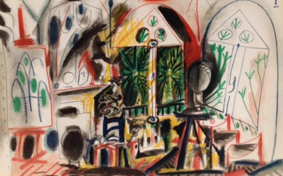 Picasso's Sketchbook Lithograph 1 Dated 19/11/1955