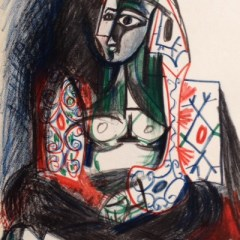 Picasso's Sketchbook, Lithograph, dated 26/1/1955