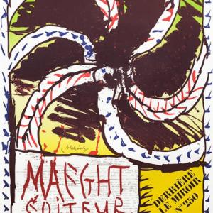 Pierre Alechinsky Poster original Lithograph pour DLM 250