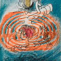 Roberto Matta Original Lithograph Homage a Tanning, XX Siecle