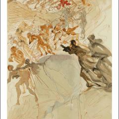 "Salvador Dali ""Purgatory 25 Divine Comedy Woodcut - lithograph"