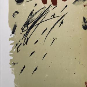 Tapies Antoni Original lithograph DM05175 Maeght 1968