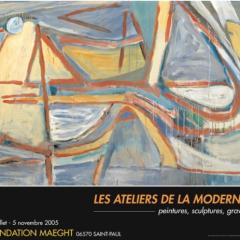 "Van Velde, Poster ""Les atelier de la modernite"""
