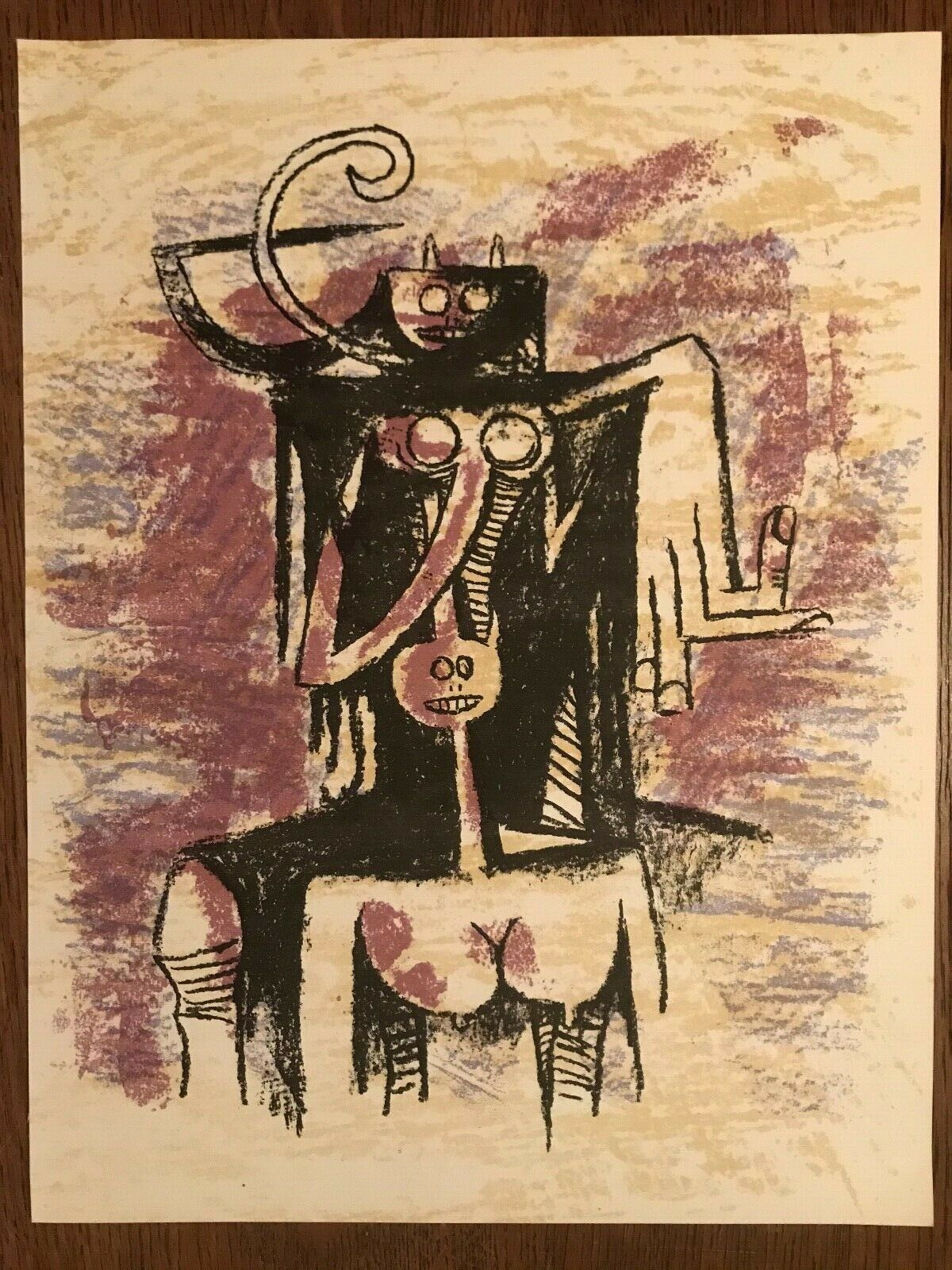 Wifredo LAM - Lithograph pour XXe Siecle - 1974