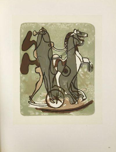 "Braque Lithograph ""Athenee""1963 Mourlot"