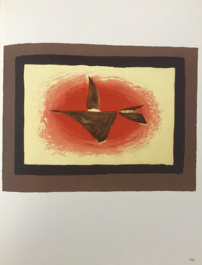 "Braque Lithograph ""au couchant""1963 Mourlot"