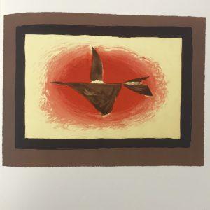 """Braque Lithograph """"au couchant""""1963 Mourlot"""