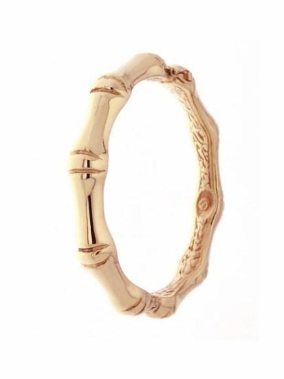 bracelet bangle bamboo rose gold