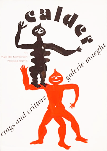 """Calder, Poster lithograph """"Crags and critters"""""""