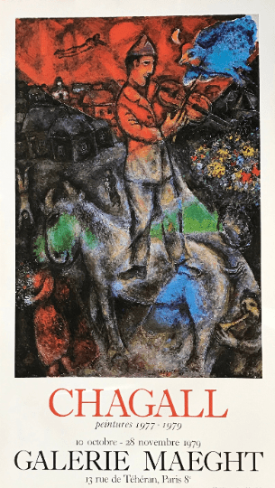 Marc Chagall poster, peintures