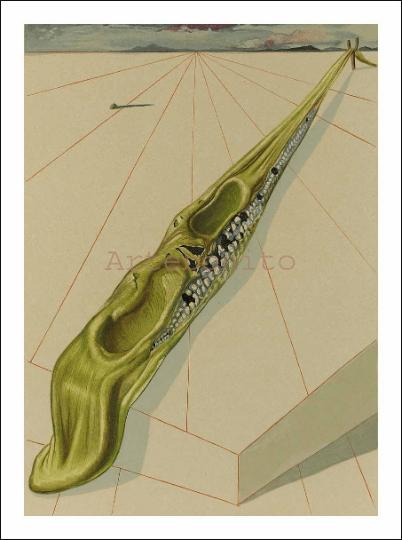 Salvador Dali, Hell 14, Woodcut, Divine Comedy