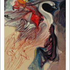 Salvador Dali, Paradise 19, Woodcut, Divine Comedy