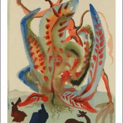 Salvador Dali, Purgatory 23, Woodcut, Divine Comedy