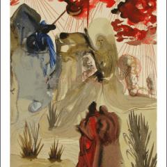 Salvador Dali, Purgatory 28, Woodcut, Divine Comedy