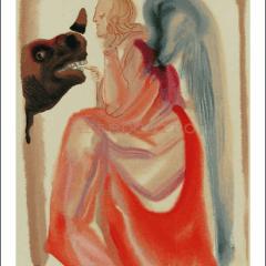 Salvador Dali, Paradise 6, Woodcut, Divine Comedy