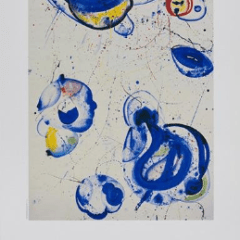 Sam Francis Poster Exhibition 1987 for Manny silverman Gallery , Mid-century Modern, Vintage poster, Art wall décor