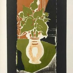 """Braque Lithograph """"feuilles couleur lumiere""""1963 Mourlot"""