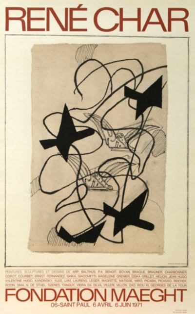 Georges Braque poster - rene char - 1971