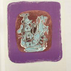 "Braque Lithograph ""Helios 10""1963 printed Mourlot"