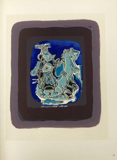 "Braque Lithograph ""Helios 9""1963 Mourlot"