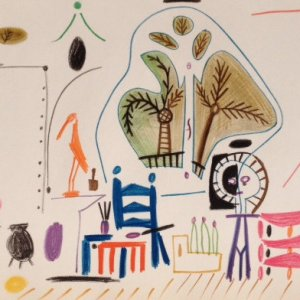 Picasso Sketchbook Lithograph No 2, dated 8/11/1955