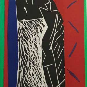 Aki Kuroda Original Lithograph, N4 4-1, 1988