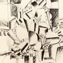 Fernand Leger Bichromie print N4-1 Noise 1988