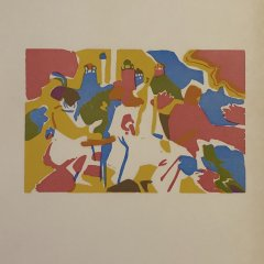 Wassily Kandinsky Woodcut three colors for Klange 1,  XX siecle, Abstract, Expressionism