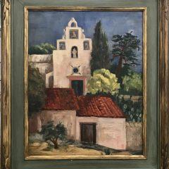 Geraldine D. Goldman  Oil on Canvas Signed Original  San Jose CA, Framed, Mid-century
